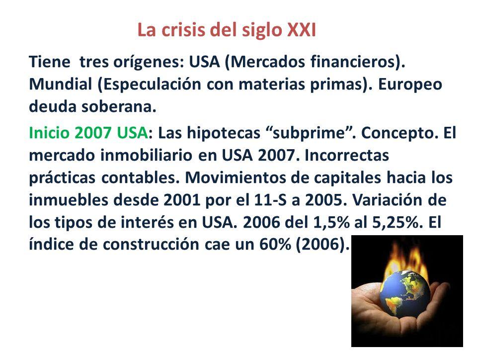 La crisis del siglo XXI