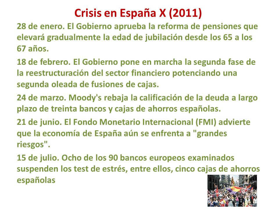 Crisis en España X (2011)