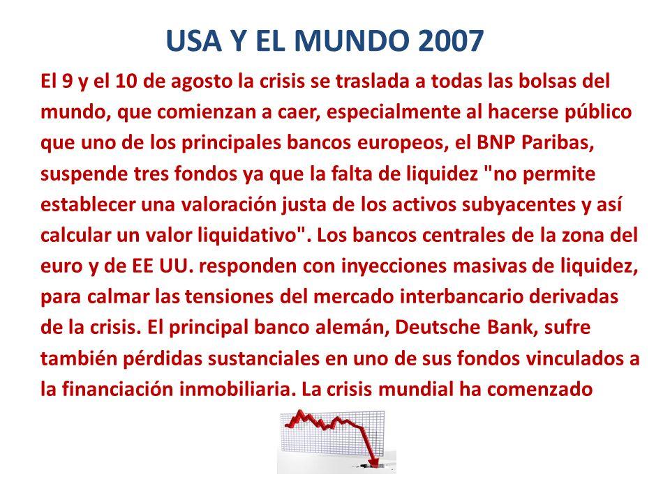 USA Y EL MUNDO 2007