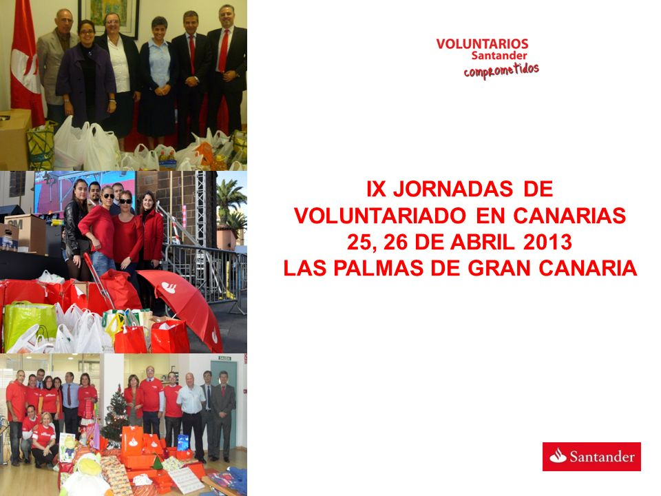 IX JORNADAS DE VOLUNTARIADO EN CANARIAS 25, 26 DE ABRIL 2013