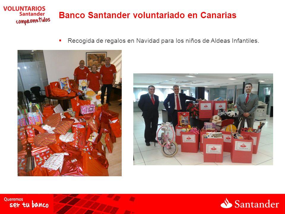 Banco Santander voluntariado en Canarias