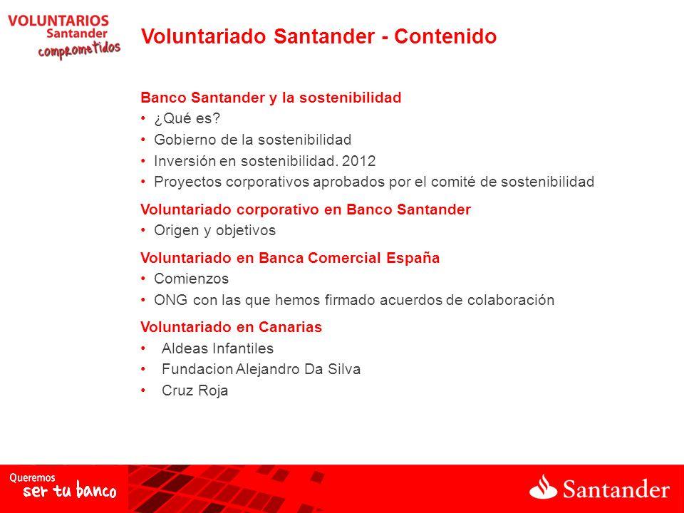 Voluntariado Santander - Contenido