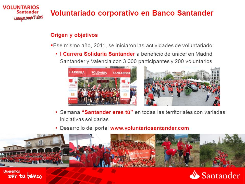 Voluntariado corporativo en Banco Santander