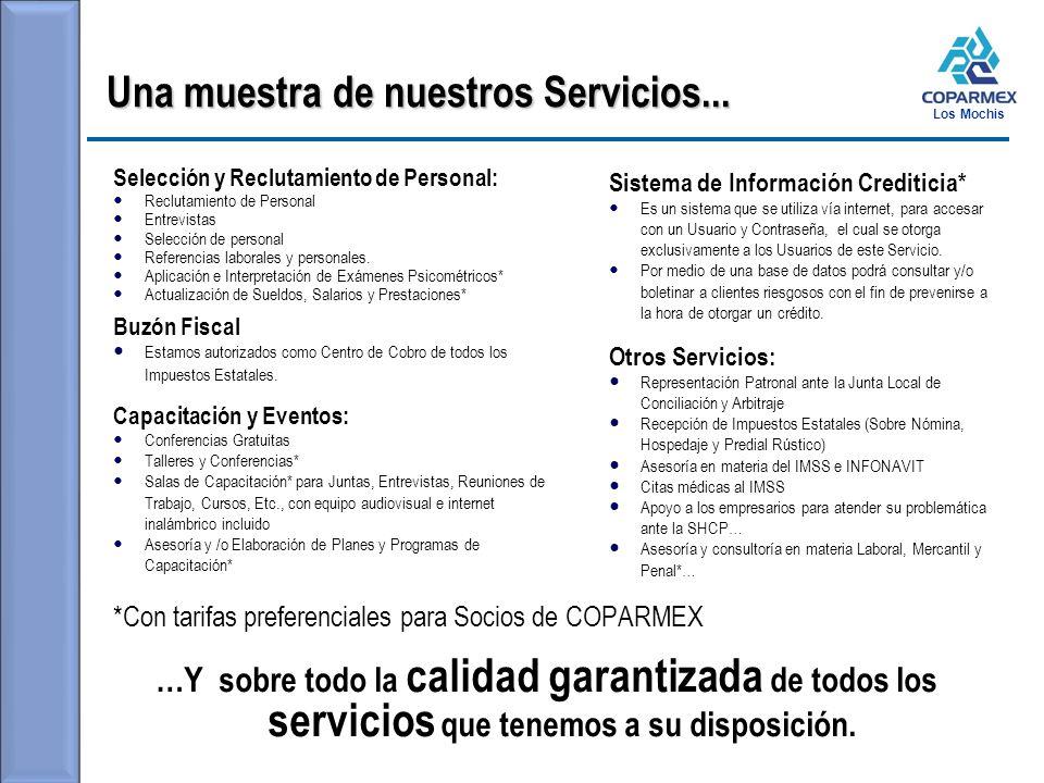 Una muestra de nuestros Servicios...