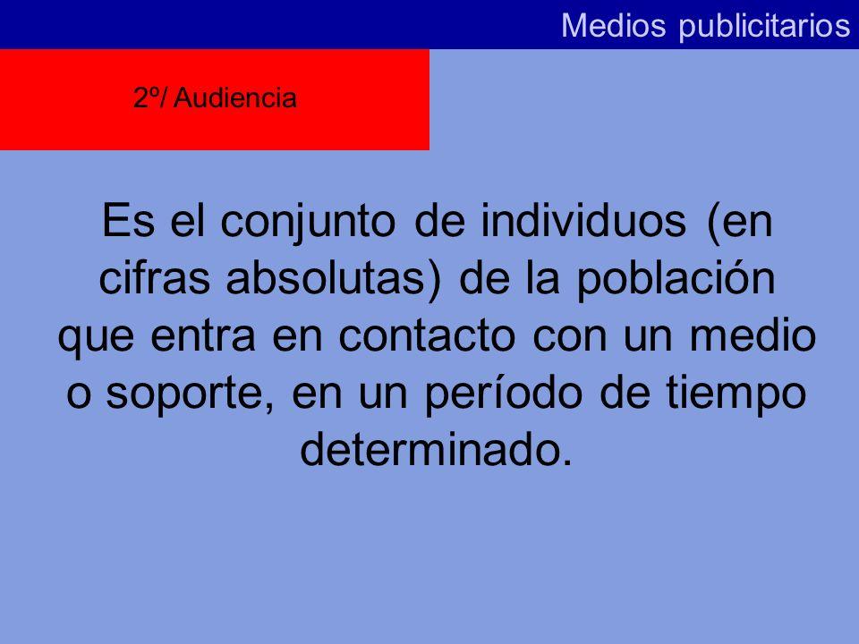 Medios publicitarios 2º/ Audiencia.