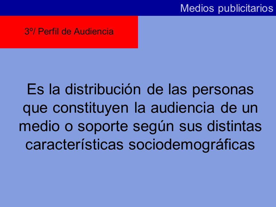 Medios publicitarios 3º/ Perfil de Audiencia.