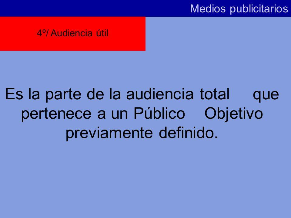 Medios publicitarios 4º/ Audiencia útil.