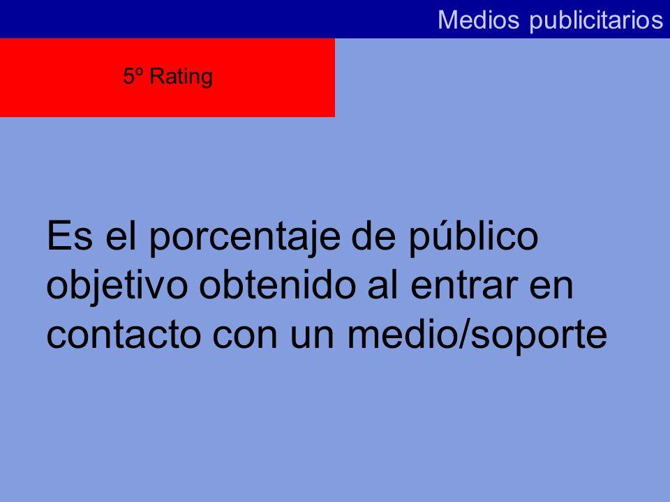 Medios publicitarios5º Rating.