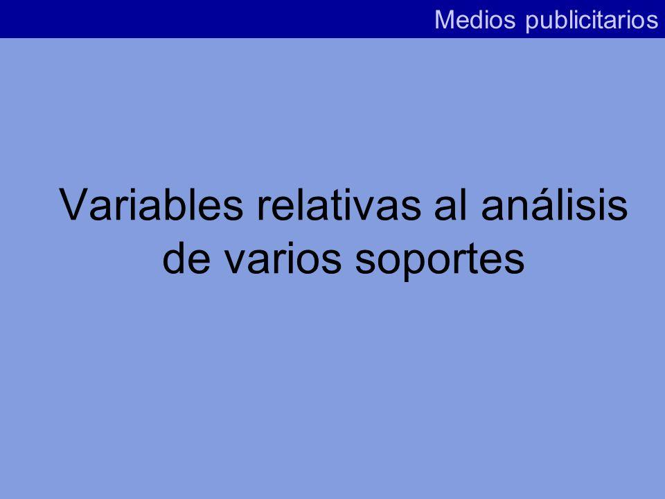 Variables relativas al análisis de varios soportes