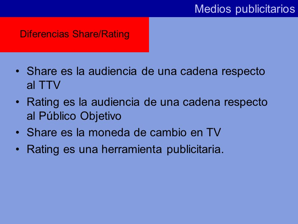 Diferencias Share/Rating