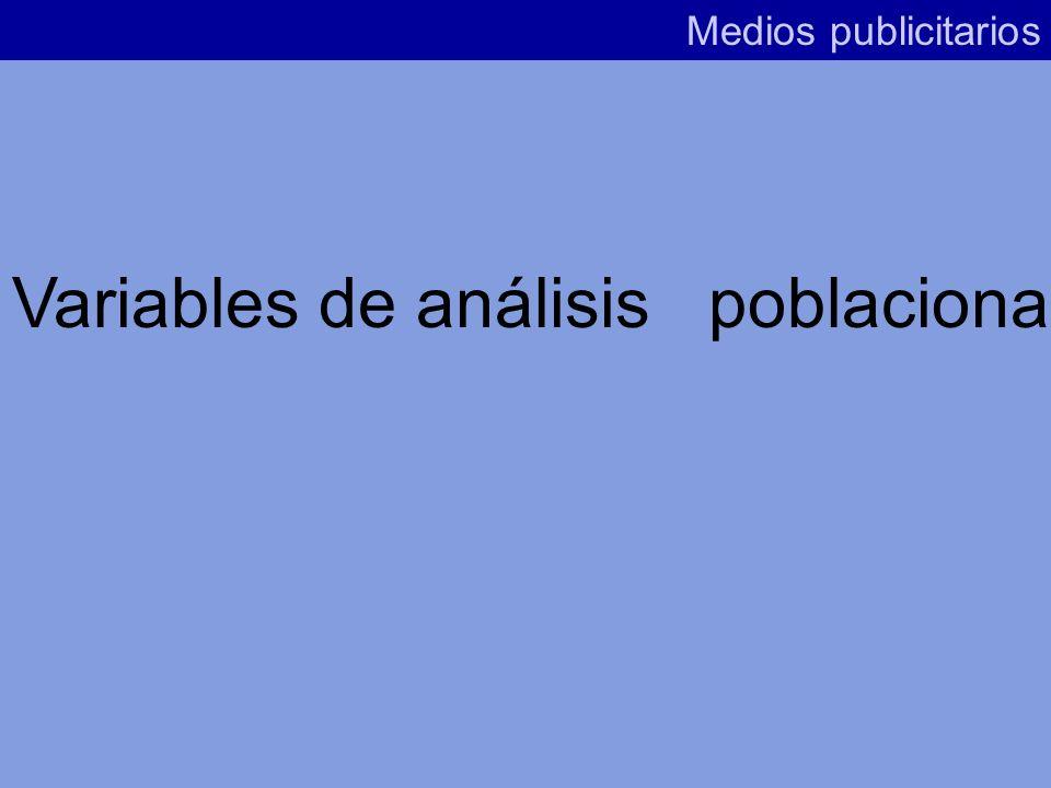 Variables de análisis poblacional