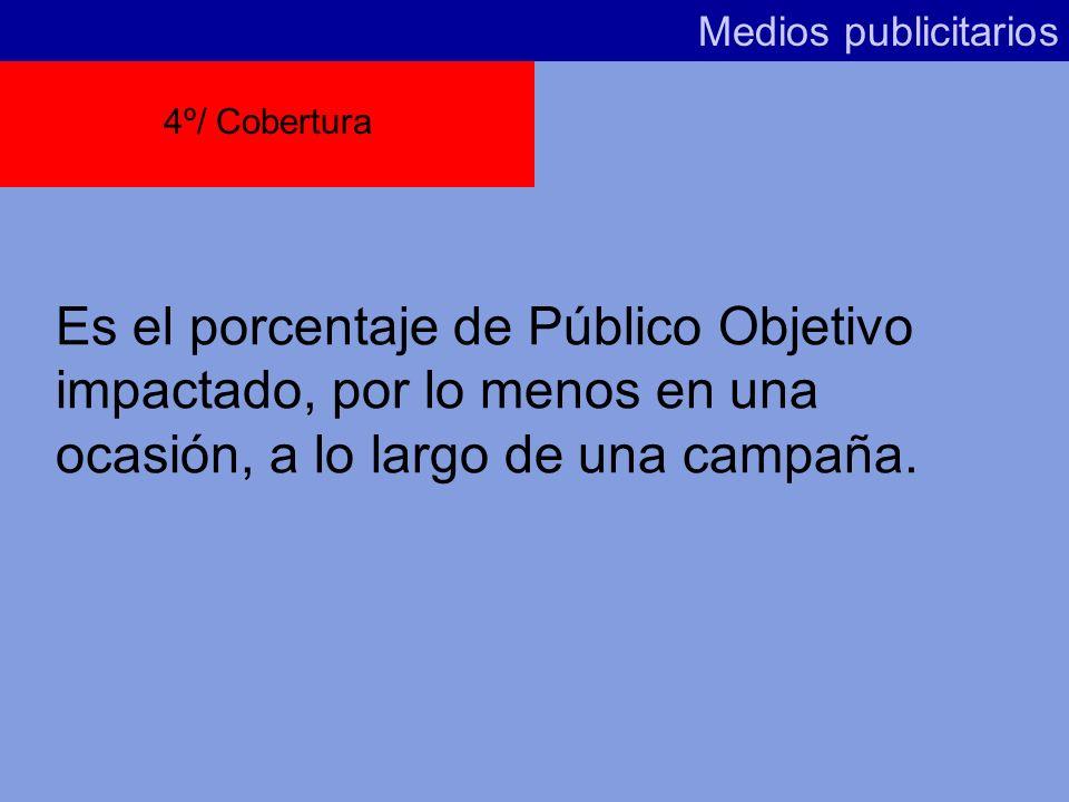 Medios publicitarios4º/ Cobertura.