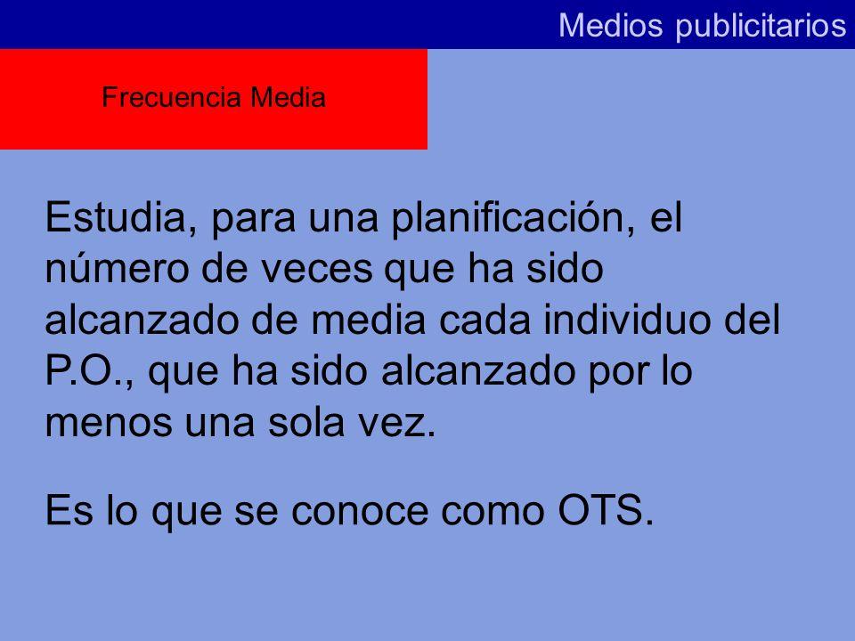 Es lo que se conoce como OTS.