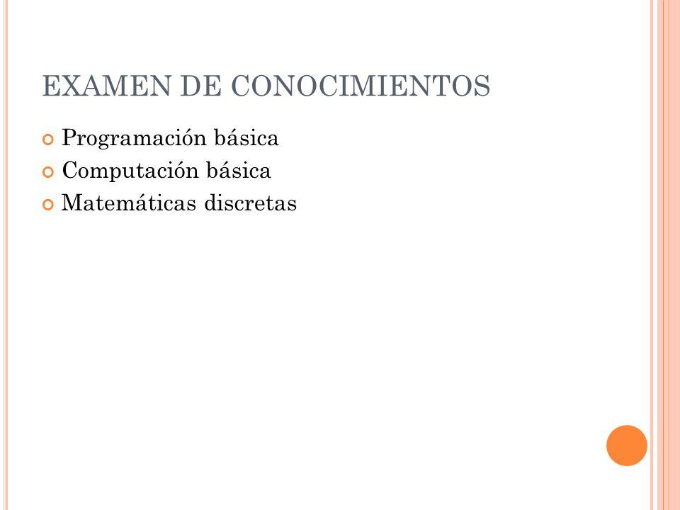 EXAMEN DE CONOCIMIENTOS