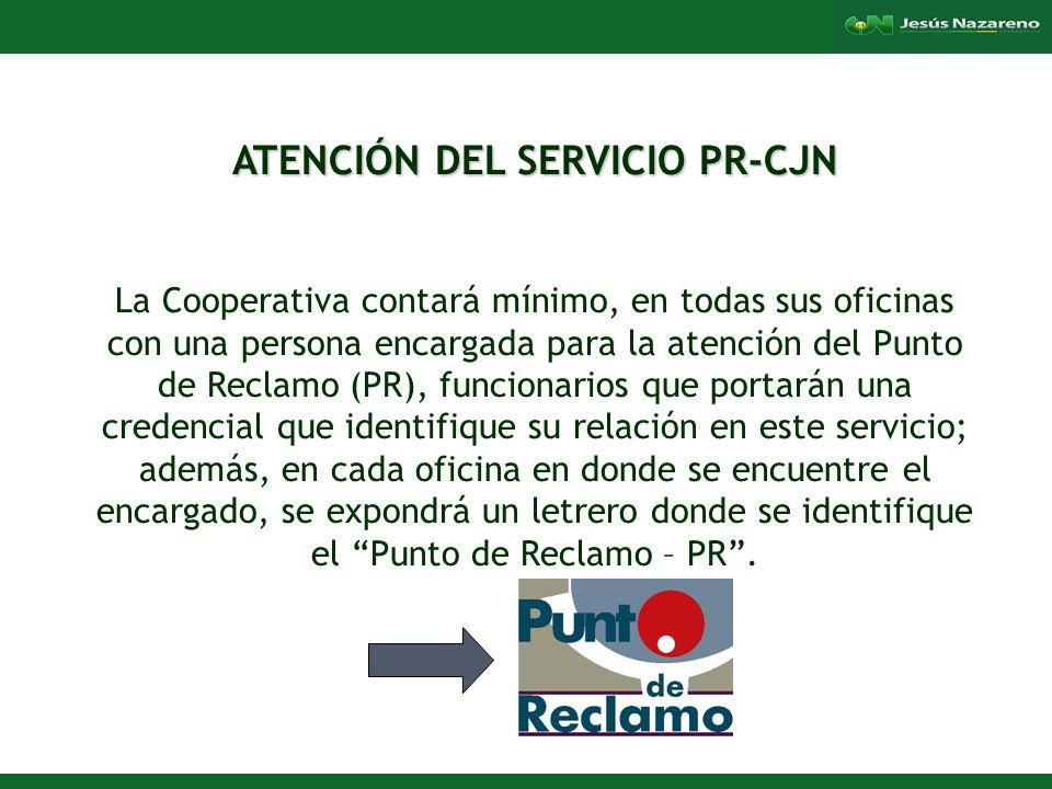 ATENCIÓN DEL SERVICIO PR-CJN