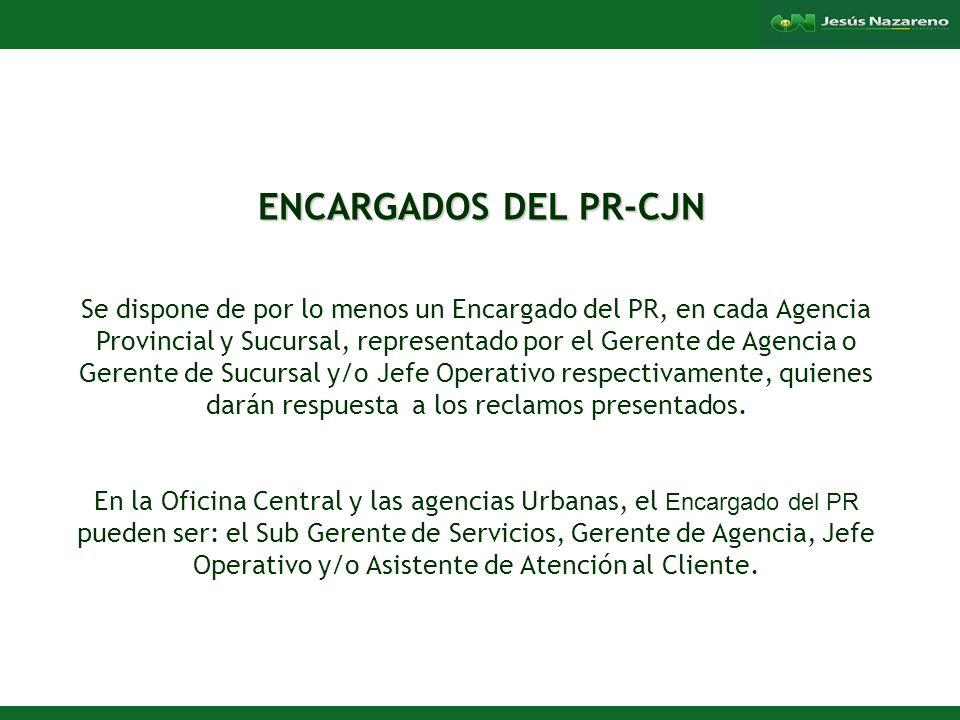 ENCARGADOS DEL PR-CJN