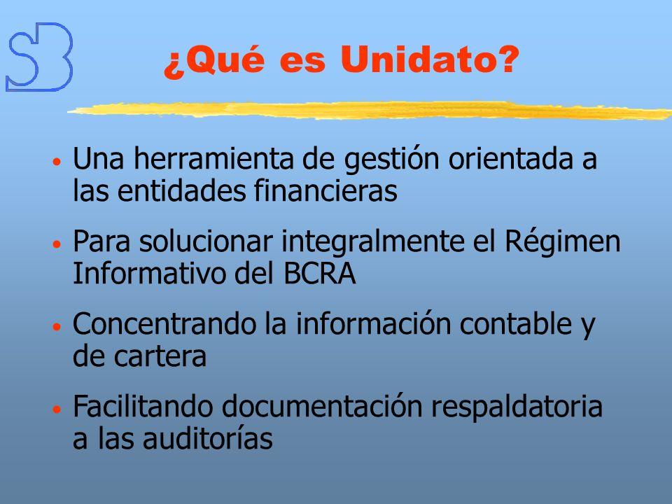 ¿Qué es Unidato Una herramienta de gestión orientada a las entidades financieras. Para solucionar integralmente el Régimen Informativo del BCRA.