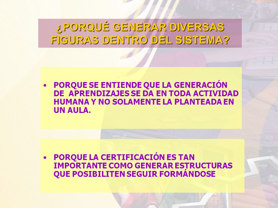 ¿PORQUÉ GENERAR DIVERSAS FIGURAS DENTRO DEL SISTEMA