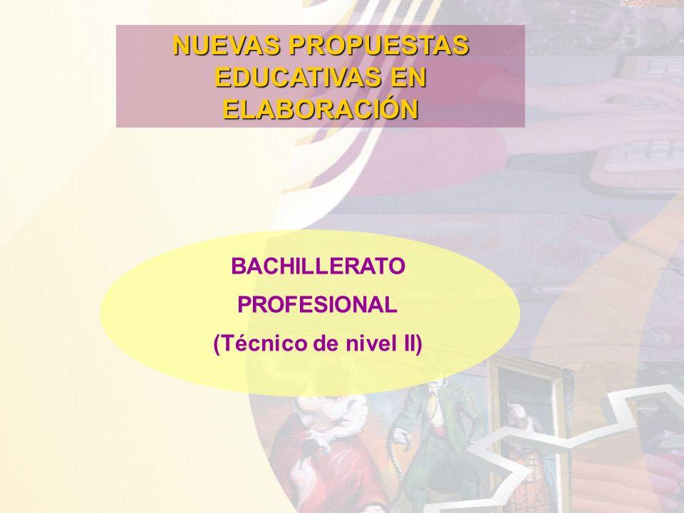 NUEVAS PROPUESTAS EDUCATIVAS EN ELABORACIÓN