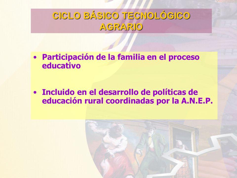 CICLO BÁSICO TECNOLÓGICO AGRARIO