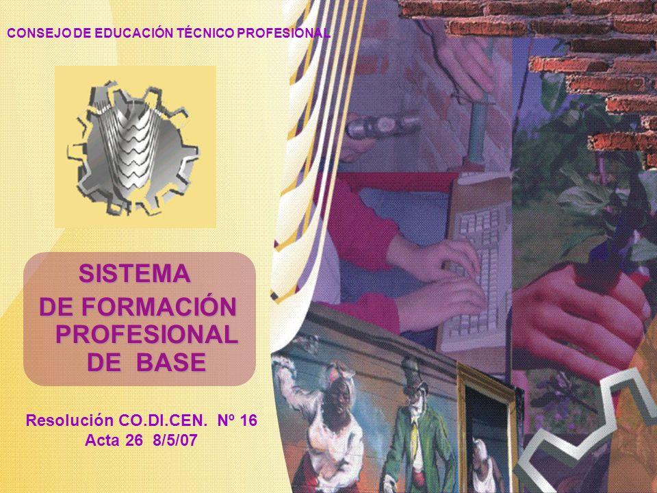 SISTEMA DE FORMACIÓN PROFESIONAL DE BASE
