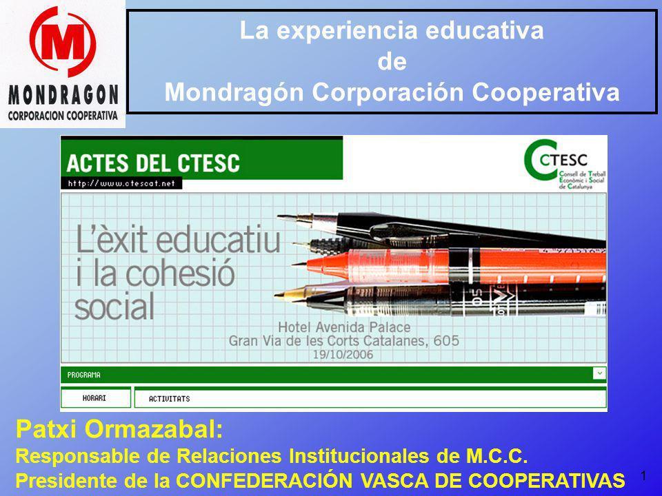 La experiencia educativa Mondragón Corporación Cooperativa