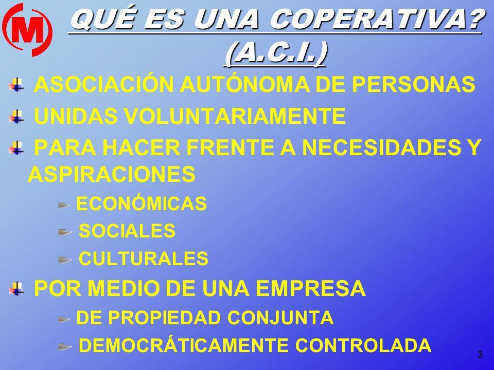 QUÉ ES UNA COPERATIVA (A.C.I.)