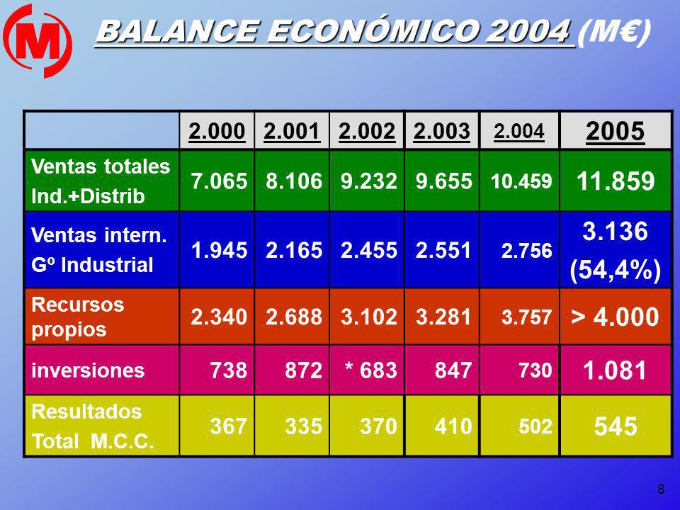 BALANCE ECONÓMICO 2004 (M€)