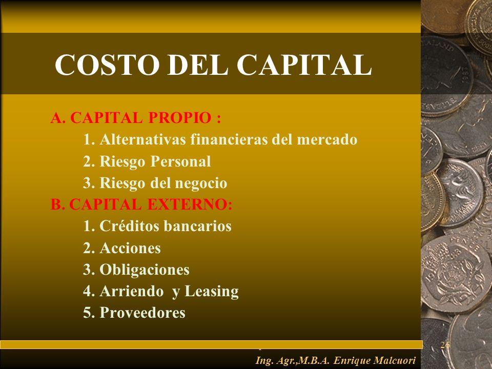 Ing. Agr.,M.B.A. Enrique Malcuori