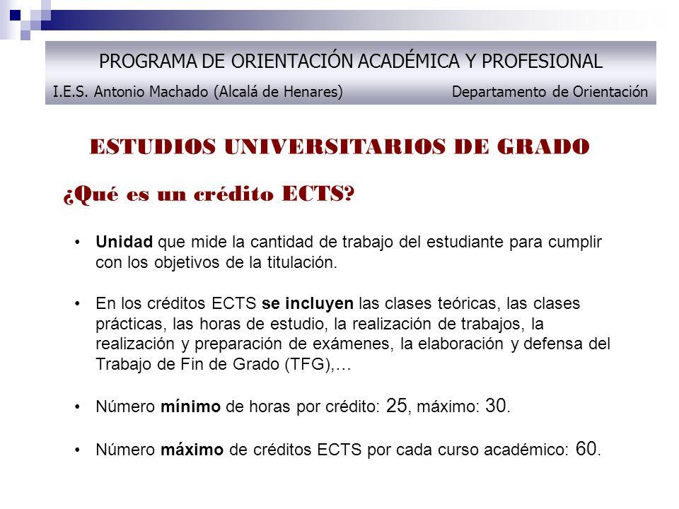 ESTUDIOS UNIVERSITARIOS DE GRADO