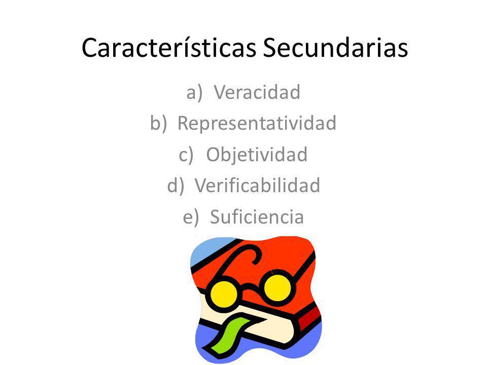 Características Secundarias