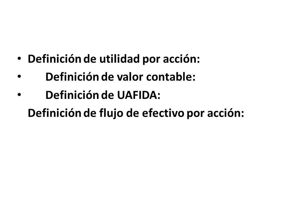 Definición de utilidad por acción: