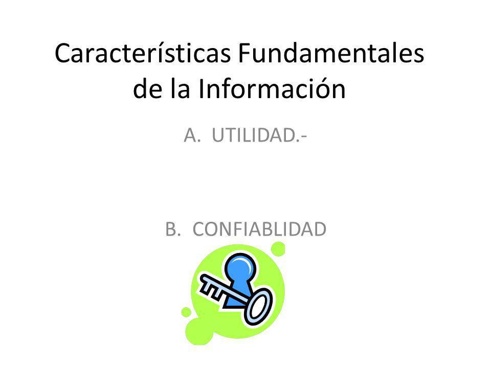Características Fundamentales de la Información