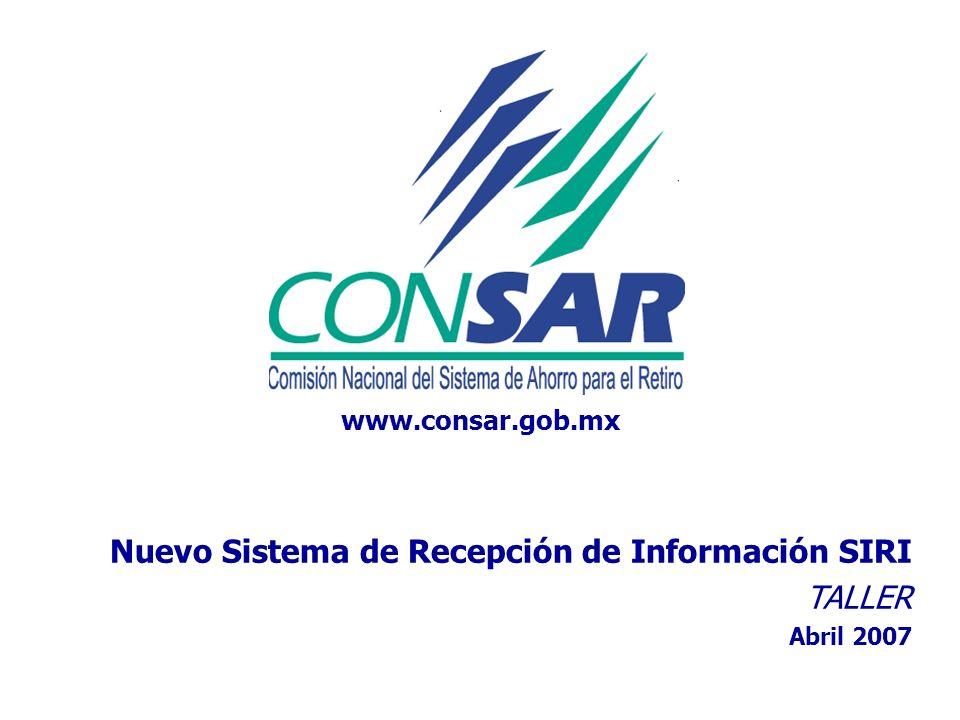 Nuevo Sistema de Recepción de Información SIRI TALLER