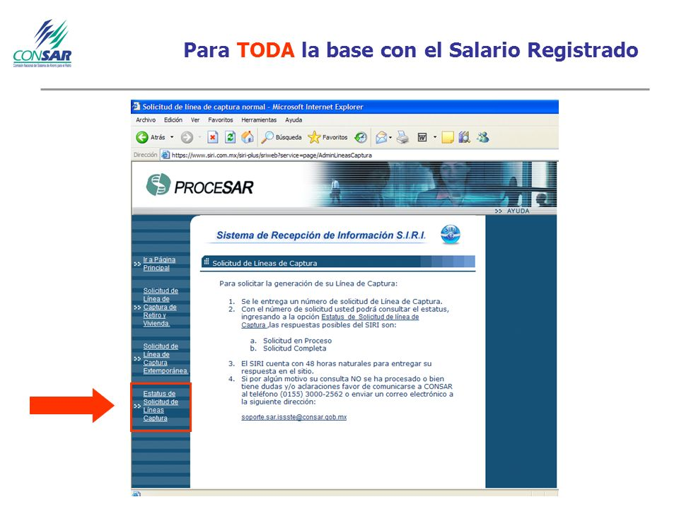 Para TODA la base con el Salario Registrado