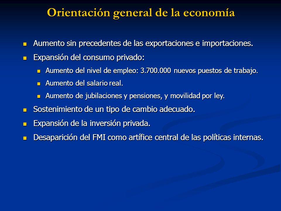 Orientación general de la economía