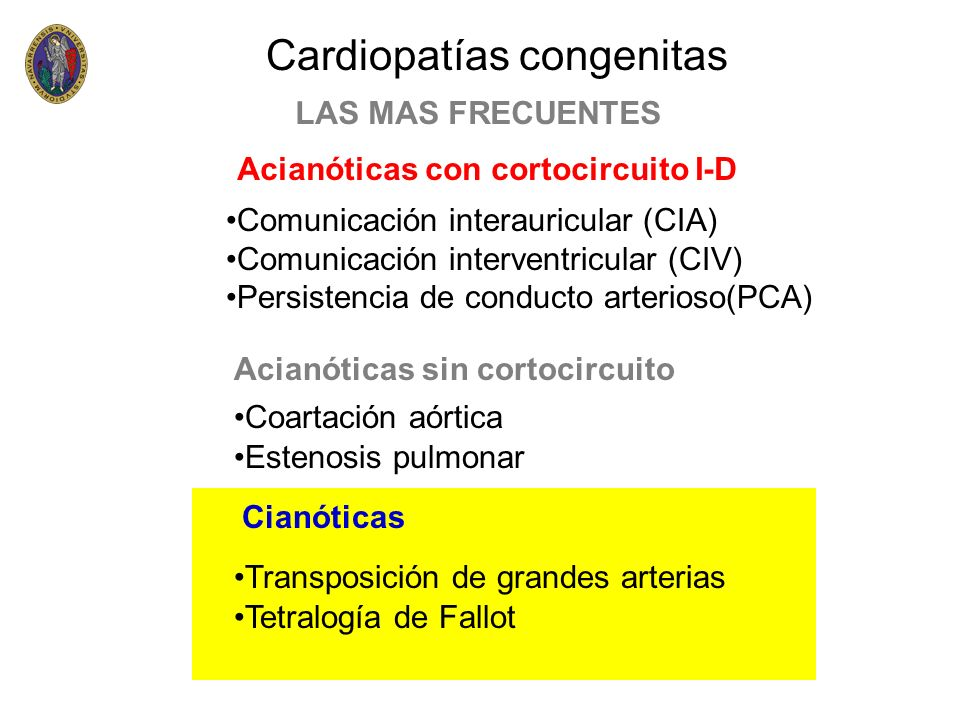 Cardiopatías congenitas