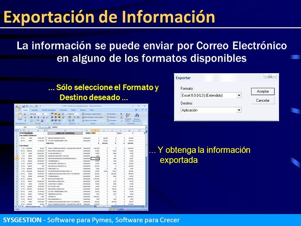 Exportación de Información