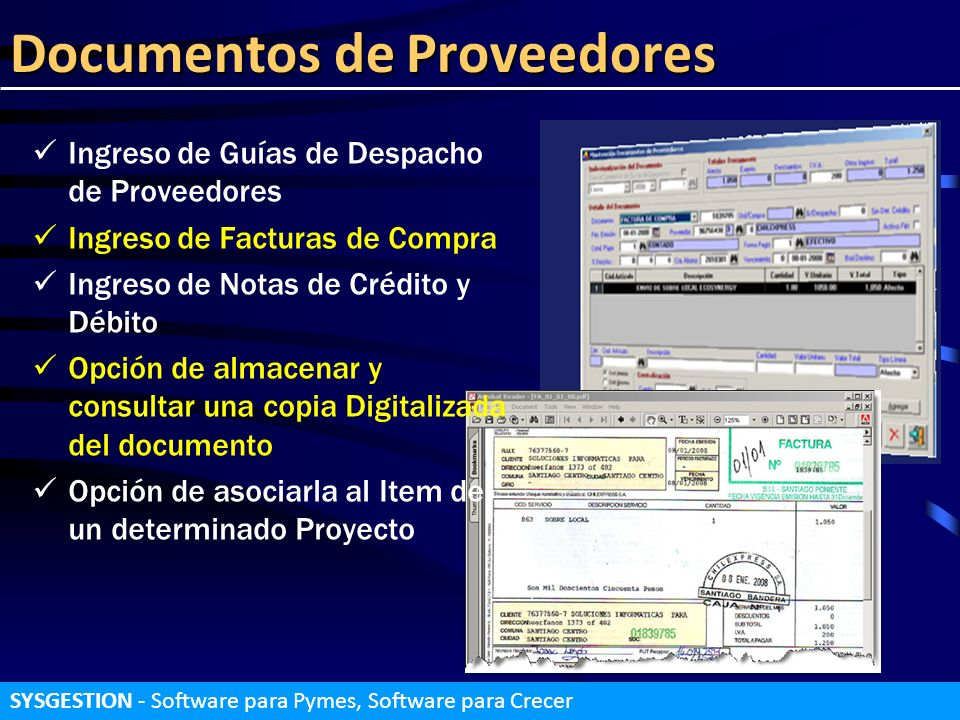 Documentos de Proveedores