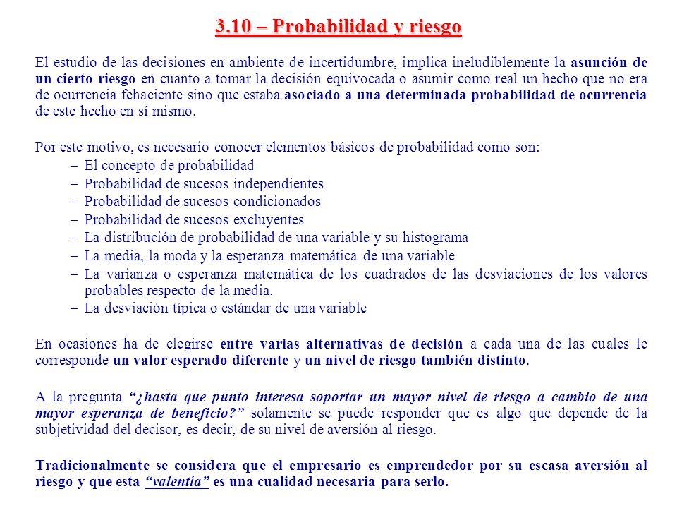 3.10 – Probabilidad y riesgo