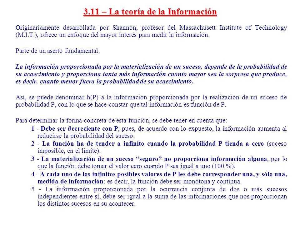 3.11 – La teoría de la Información