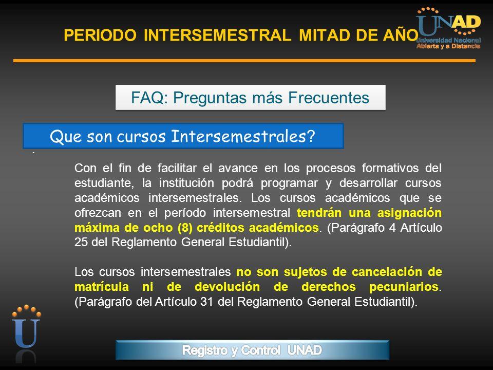 PERIODO INTERSEMESTRAL MITAD DE AÑO