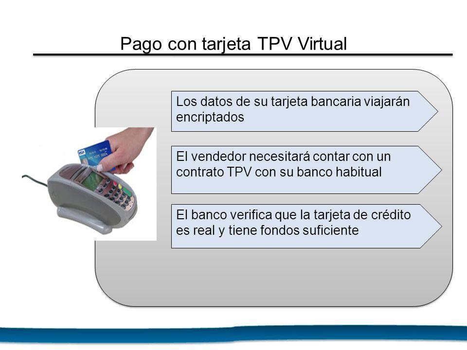 Pago con tarjeta TPV Virtual