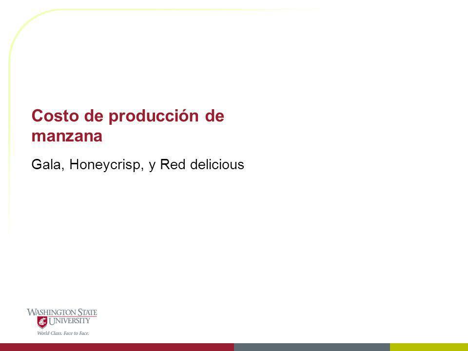 Costo de producción de manzana