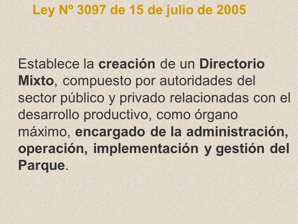 Ley Nº 3097 de 15 de julio de 2005