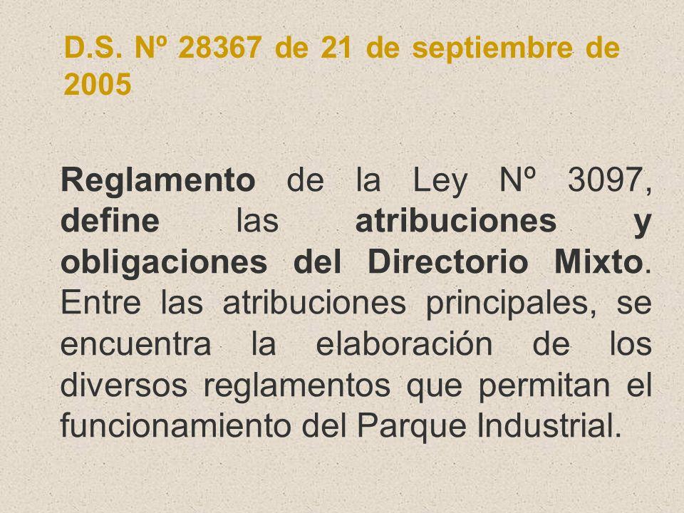D.S. Nº 28367 de 21 de septiembre de 2005