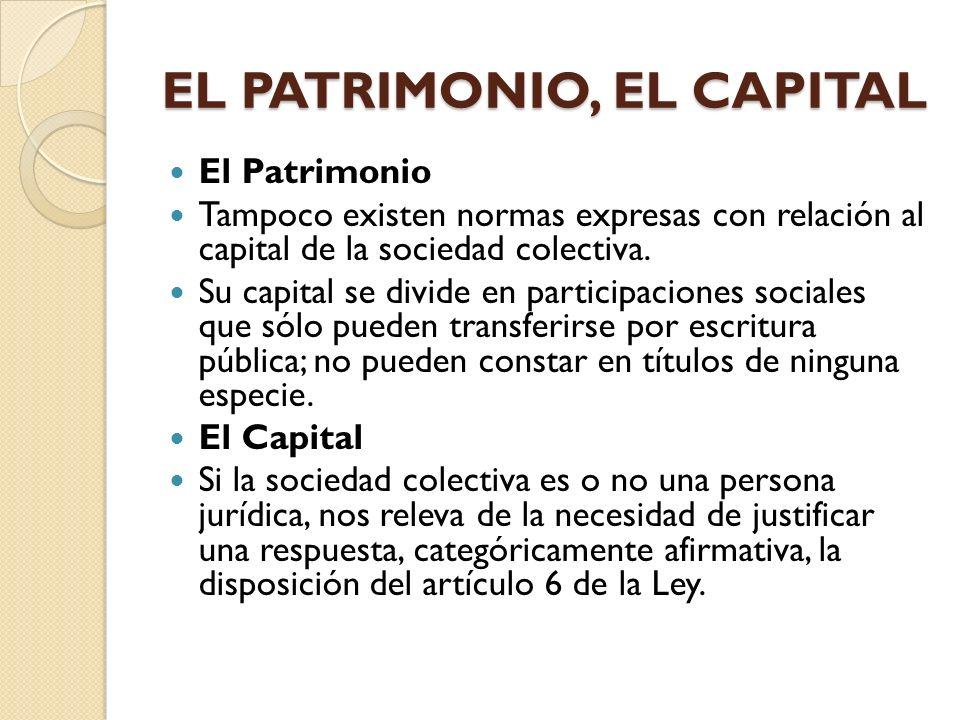EL PATRIMONIO, EL CAPITAL