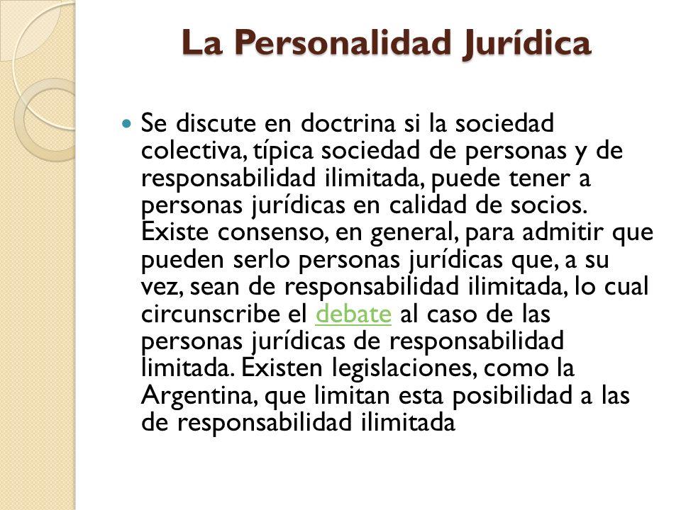 La Personalidad Jurídica