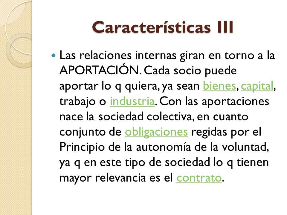 Características III