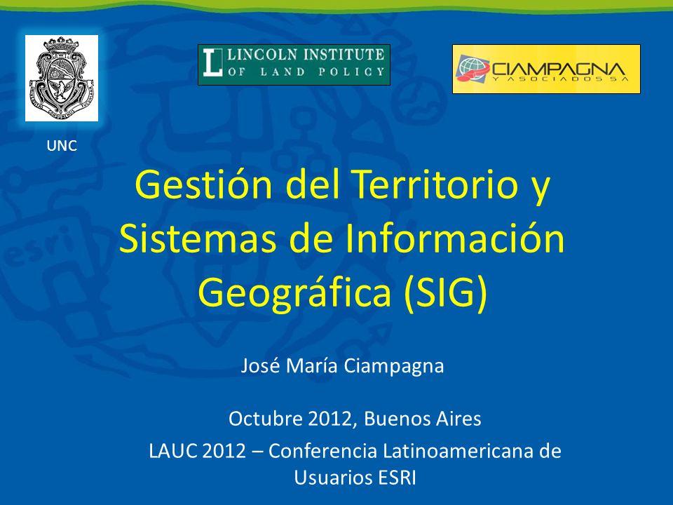 Gestión del Territorio y Sistemas de Información Geográfica (SIG)